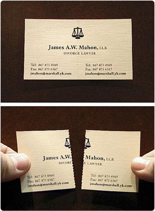 离婚律师名片设计