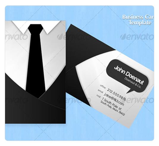 衬衣领带主题名片设计