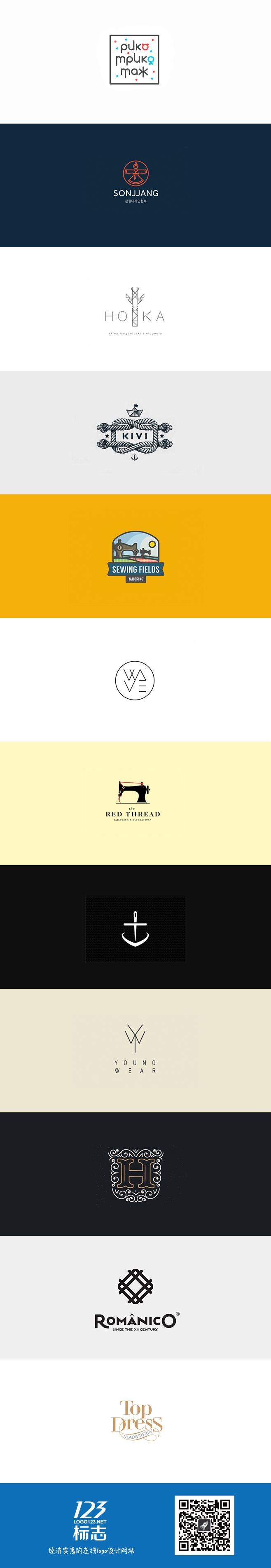 时尚服装品牌元素logo设计集锦