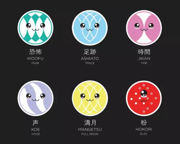 餐饮美食logo设计欣赏—Natsuki日料餐厅logo卡通形象设计8