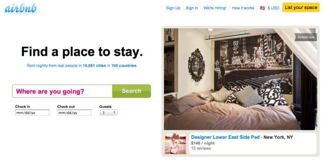 通过共享经济,airbnb为