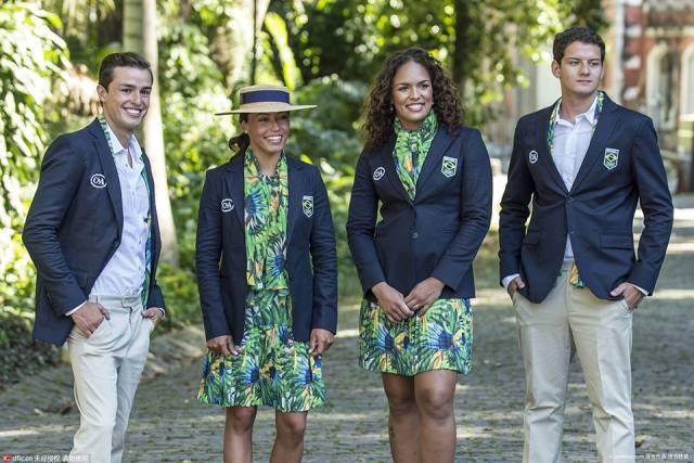 """里约奥运会各国代表团服装,中国还是原来的配方,原来的""""番茄炒蛋""""味儿~"""