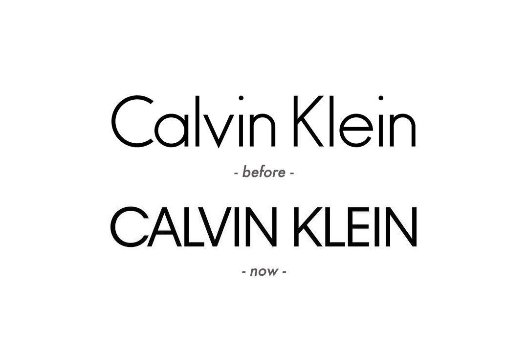 美国时装品牌Calvin Klein更换新LOGO