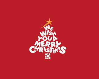 圣诞树logo设计