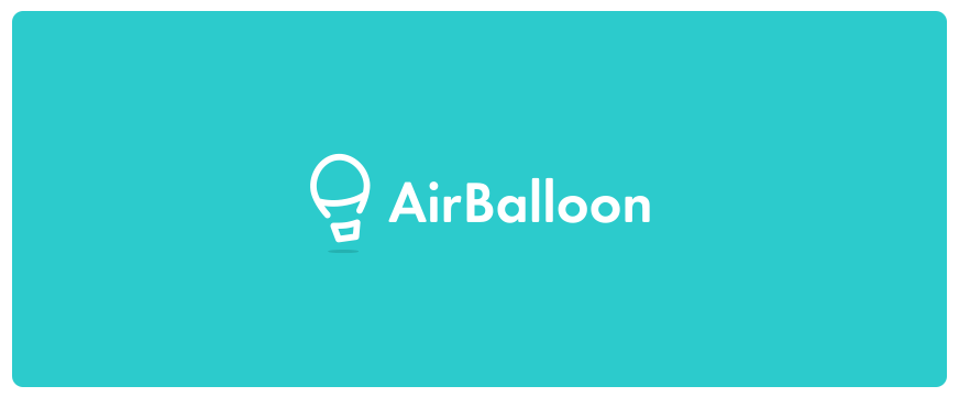 将字母A化作热气球的样子,底部再加一个小方形,就形成了品牌LOGO,简单明了,也能充分表现品牌。