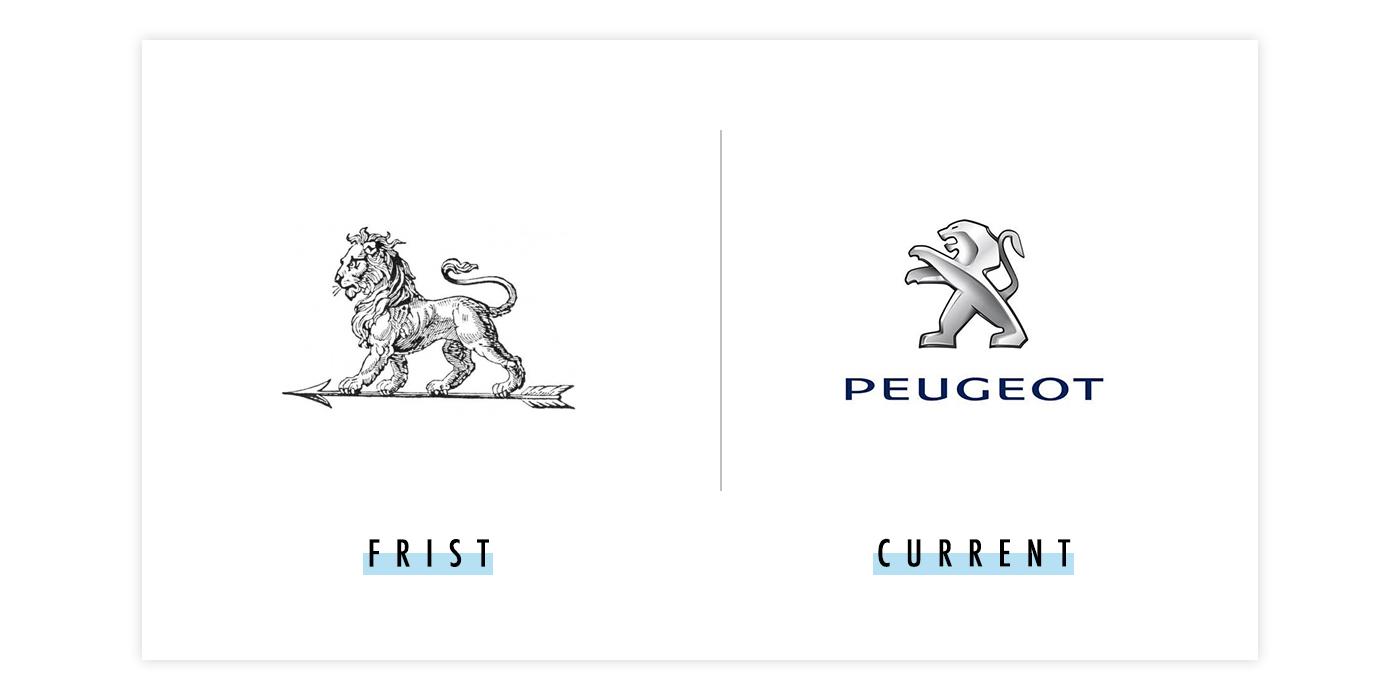 标致新旧logo对比配图