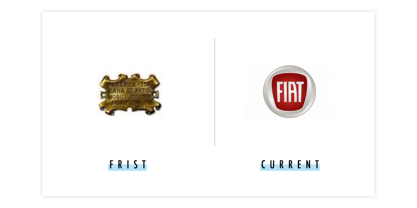 菲亚特新旧logo对比配图