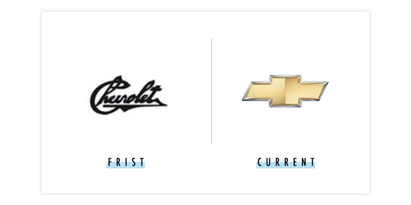 雪弗兰新旧logo对比配图