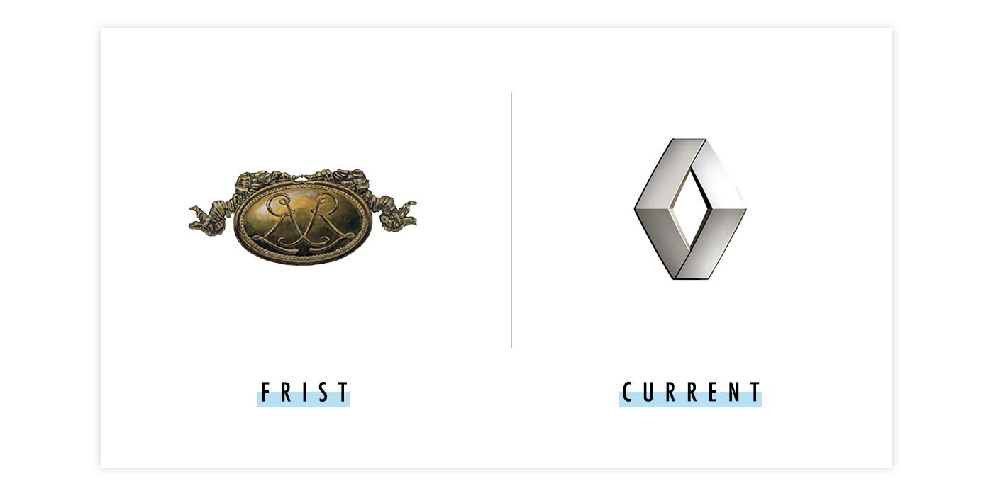 雷诺新旧logo对比配图