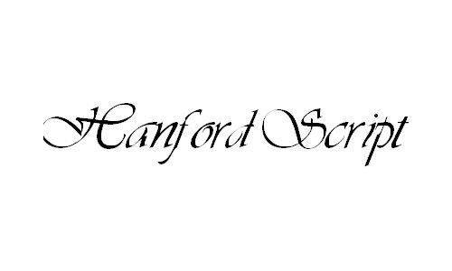 婚礼英文字体欣赏及字体下载