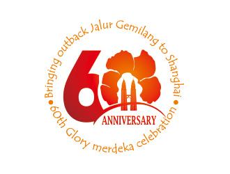 123标志网为上海马来西亚商会制作国庆60周年盛典logo!