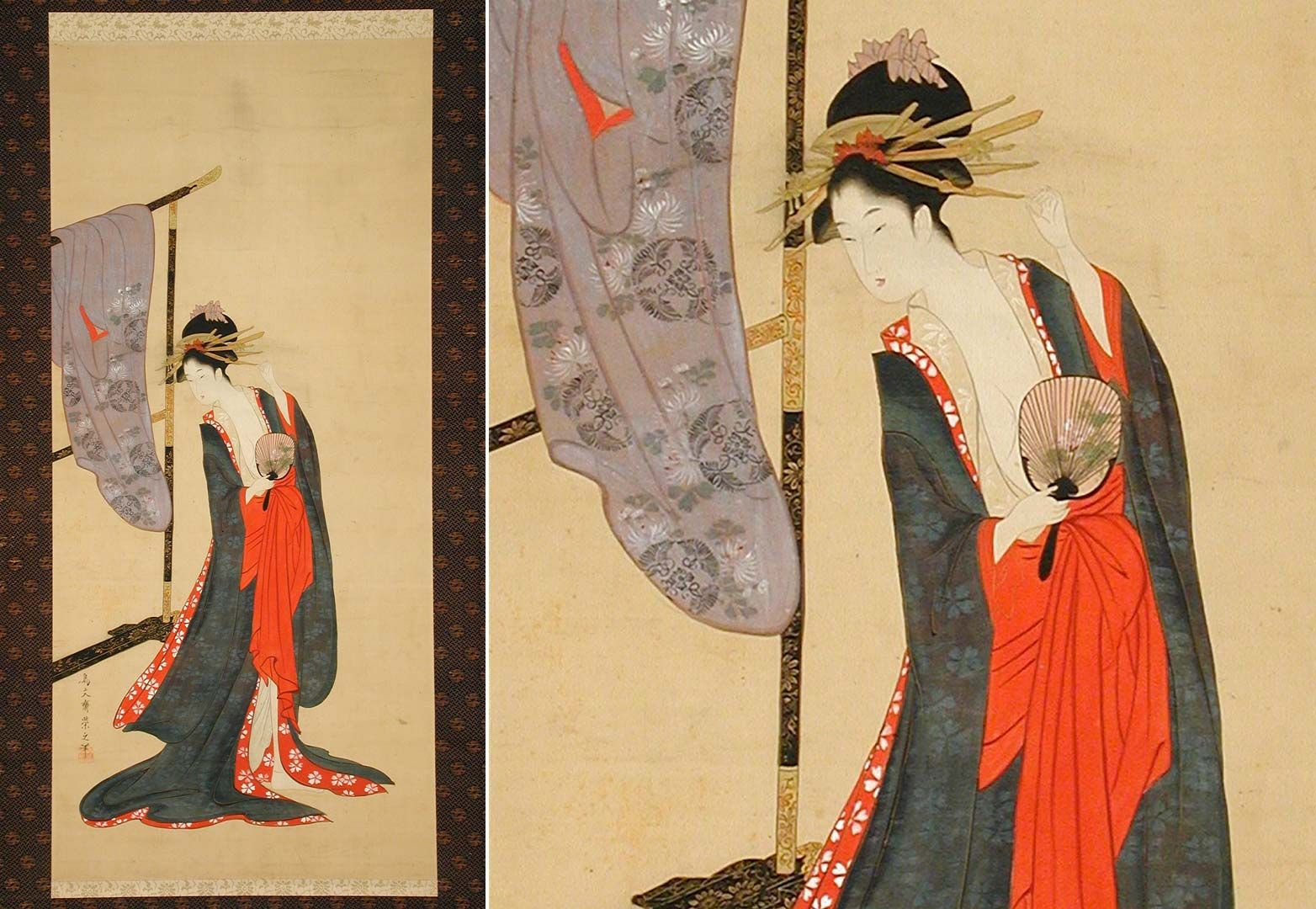 beige-oiran-in-summer-kimono