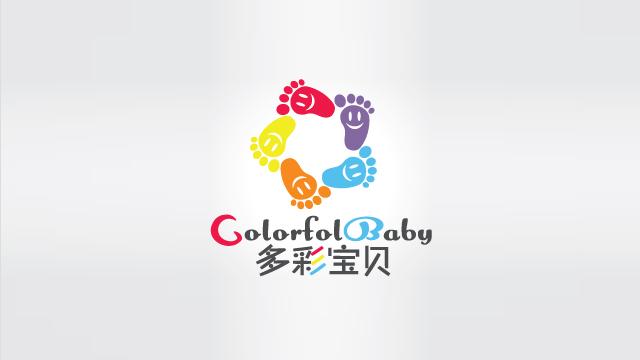 多彩宝贝婴幼儿服务机构学校LOGO标志设计