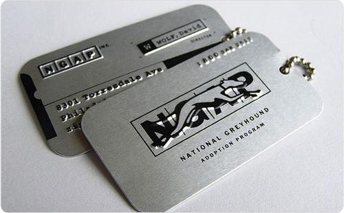 金属质感名片设计