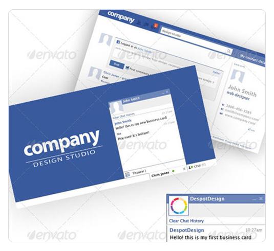 社交网络名片设计