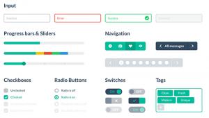 """由Designmodo设计的扁平化UI组件,这是向真实设计转变的一种外在表现。但作为设计风格,""""扁平化""""只是其中一种方式,不是真实设计的必然表现。"""