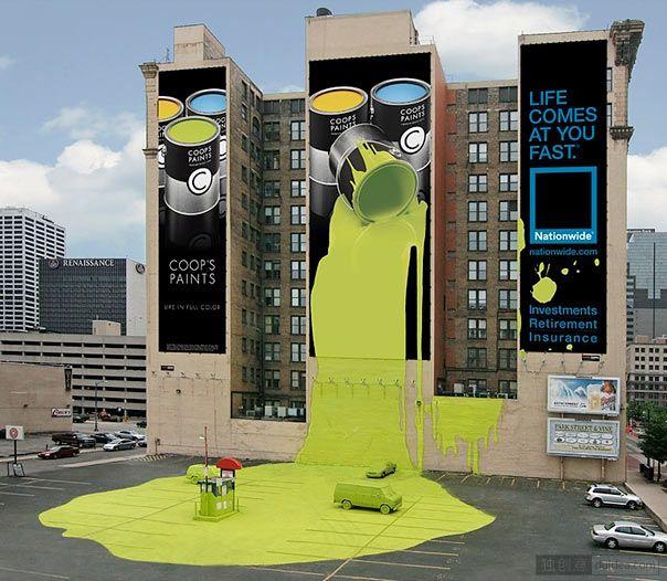 Coop的涂料(保险广告):再来看看,这看起来像一个油漆的广告,但实际上它是一个从全国保险。