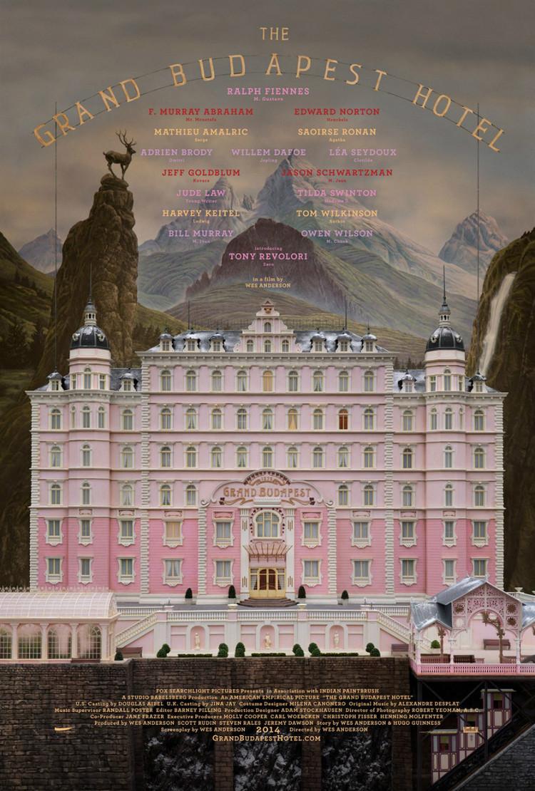 The Grand Budapest Hotel(布达佩斯大饭店)官方海报