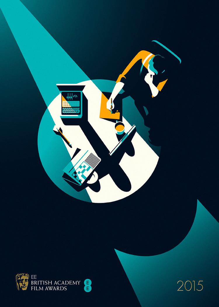 Malika Favre为The Imitation Game(模仿游戏)设计的提名奖海报