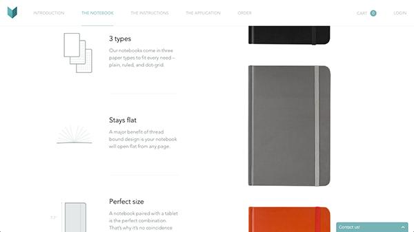 Mod的登陆页面极为简约漂亮,而页面上四处的文字也同样如此。细瘦的Avenir字体作为标题和正文都效果出众,精彩纷呈。虽然其登陆页面较长,文字相对较少,但文字本身外观很漂亮。