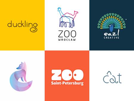 萌萌的可爱动物元素logo设计集锦