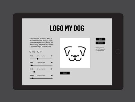 小动物logo生成器,为每只流浪的小猫小狗生成一个标志