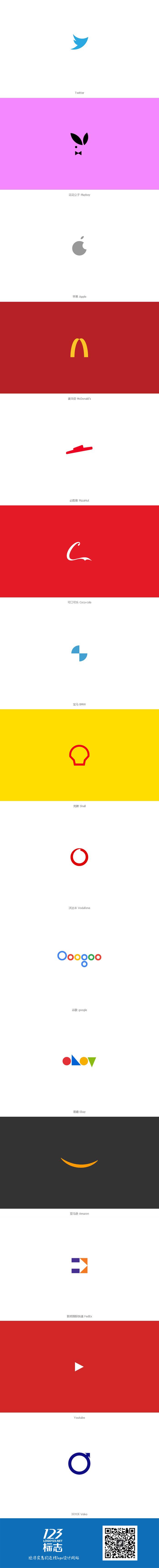 当麦当劳google亚马逊这些世界著名品牌的logo极简后,你还认得几个