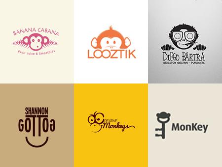 猴年猴元素的logo设计集锦