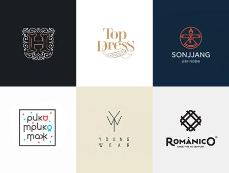12个时尚服装品牌元素logo设计