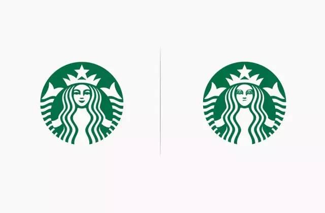 真实的麦当劳,星巴克logo应该是这样的