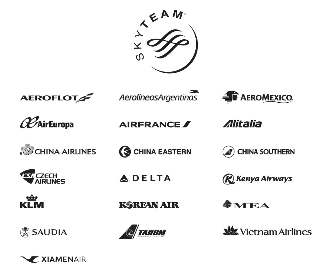 天合联盟(SKYTEAM)成员的航空公司