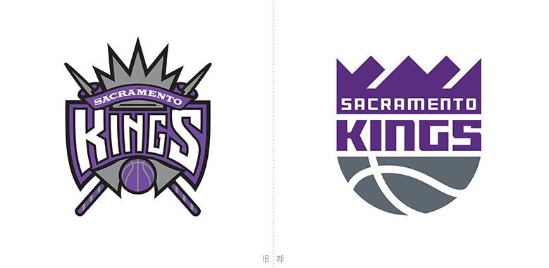 NBA篮球运动标志设计分享—国王队公布下一赛季全新LOGO