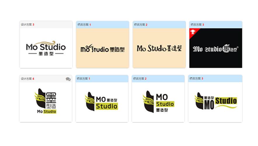 """""""Mo Studio 墨造型""""logo设计—美发造型logo设计案例分享"""