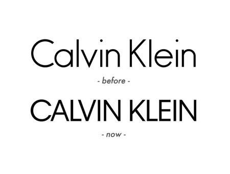 美国时装品牌Calvin Klein更换新LOGO,英文字母LOGO设计