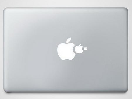 想象力十足的人把苹果电脑logo给玩坏了!