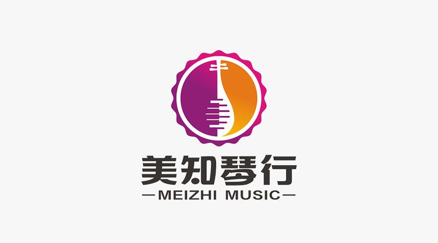 美知琴行logo设计