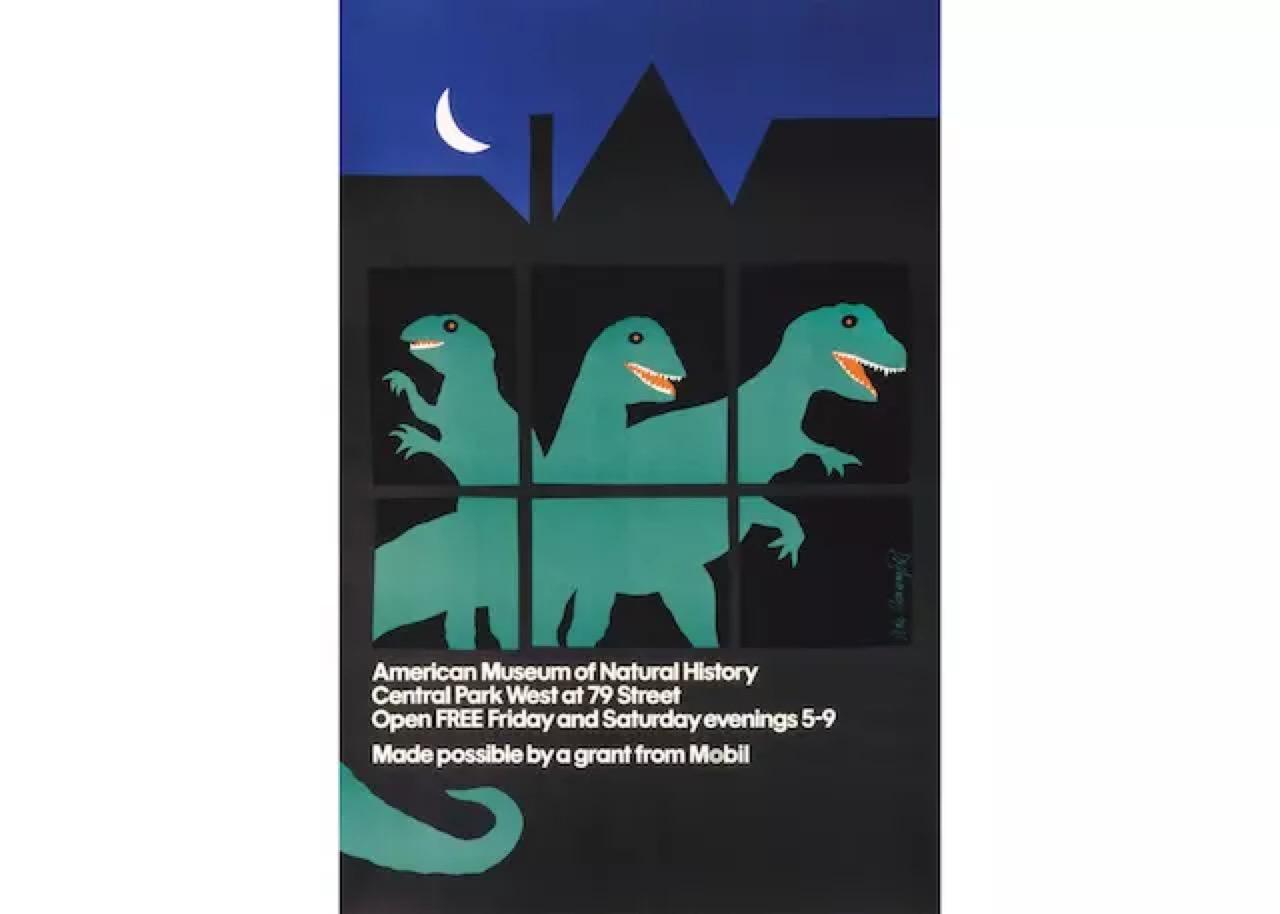 为美国自然历史博物馆设计的海报