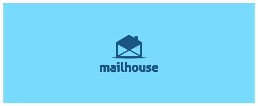 信封元素加上房子的烟囱,就构成了一个房子。这个LOGO适用于房地产品牌、民宿品牌等。