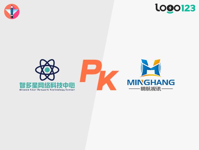 科技类LOGO设计PK(设计师原创 VS AI智能)