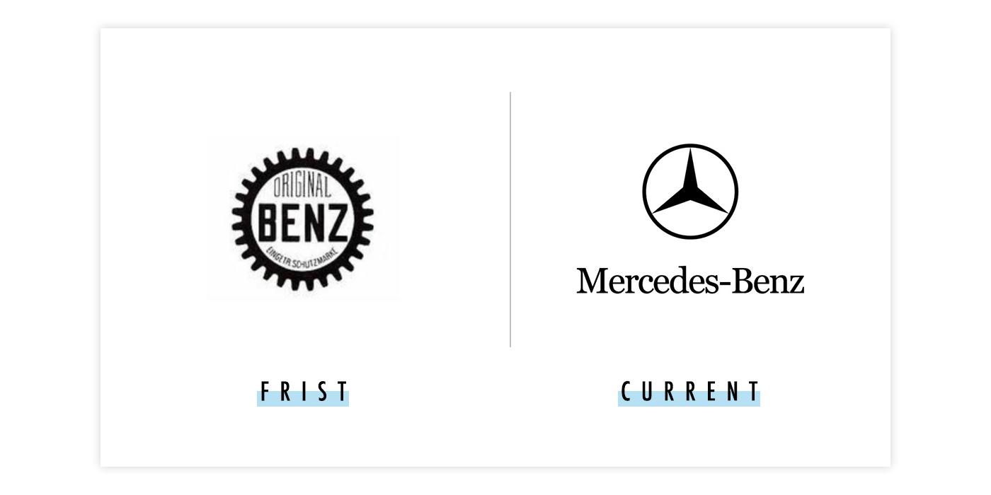 奔驰新旧logo对比配图