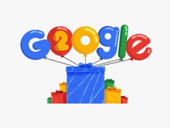 谷歌20周年 | 回顧谷歌節日LOGO,竟超過2000多種!