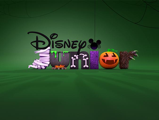 迪士尼幼儿频道之万圣节Logo设计