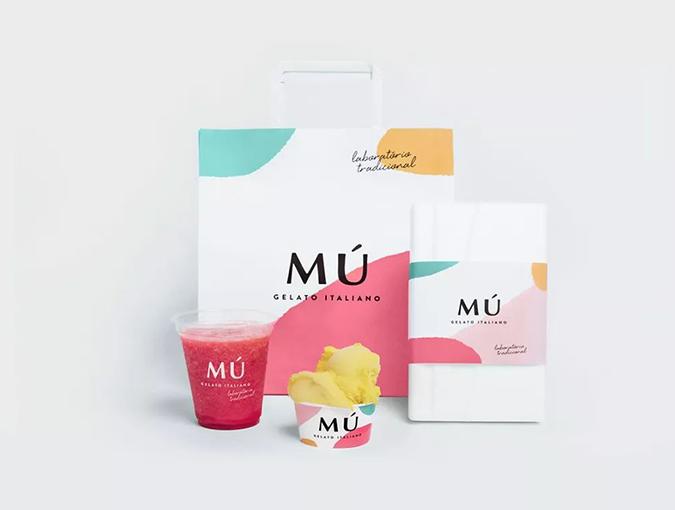 Mú Gelato Italiano,小清新冰淇淋品牌VI设计欣赏